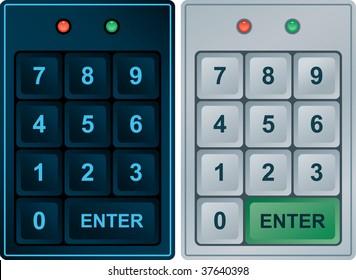 Keypad Entry (editable vector format)