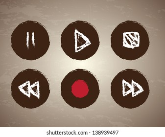 keypad icons over vintage background vector illustration