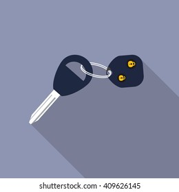 keys icon. Flat design style modern vector illustration. Isolated on stylish color background. Flat long shadow icon. Elements in flat design.