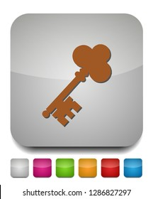 keys icon, safe and protection sign