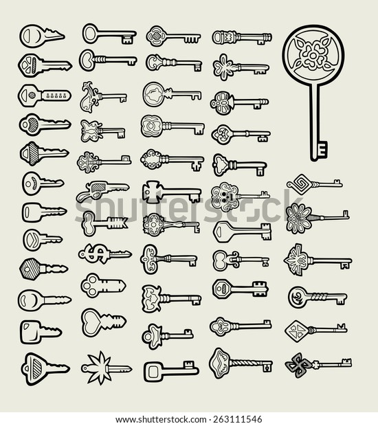 927acb255f9 Keys icon sketch vector. Useful hand drawing objects. Good use for any  design you
