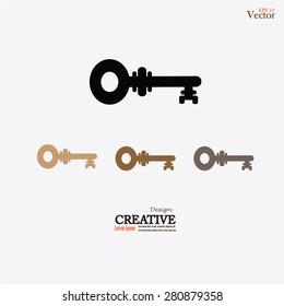 Keys Icon.key.vector illustration.