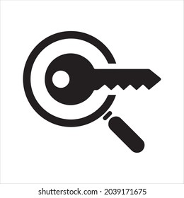 Keyword research icon. Vector and glyph