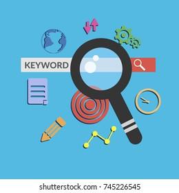 Keyword search concept banner design eps 10 vector