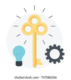 Keywords Optimization. Keyword research, effective keyword icon concept