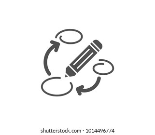 Keywords simple icon. Pencil symbol. Marketing strategy sign. Quality design elements. Classic style. Vector