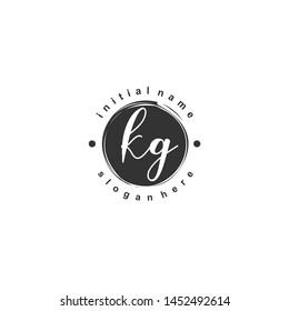 KG Initial beauty monogram logo vector