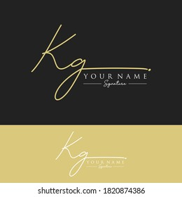 KG Initial letter handwriting and signature logo.