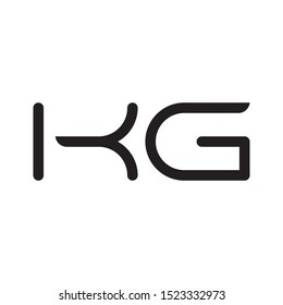 KG initial letter logo template vector icon design