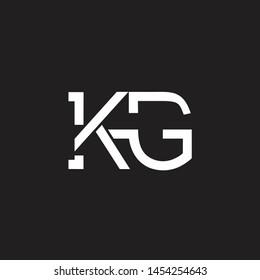 KG intial logo Capital Letters black background