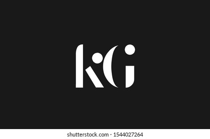 KG letter Logo Design Template Vector