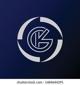 KG letter logo and designs