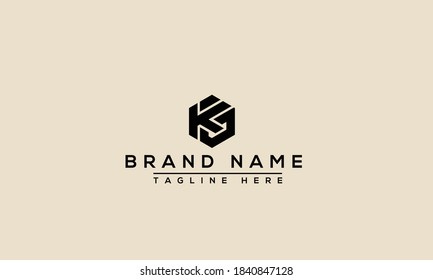 KG Logo Design Template Vector Graphic Branding Element.