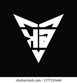 KG Logo monogram with back drop shape logo design template