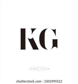 KG logo monogram isolated on white background