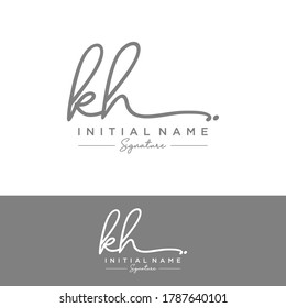 KH Initial letter handwriting and signature logo.
