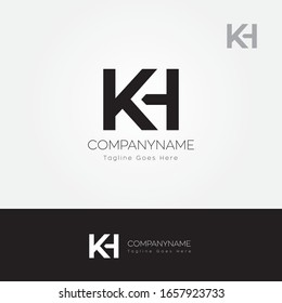 KH K and H logo vector illustration template design symbol icon