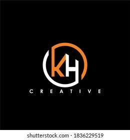 KH Letter Initial Logo Design Template Vector Illustration