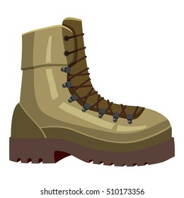 Khaki boot icon. Cartoon llustration of khaki boot vector icon for web