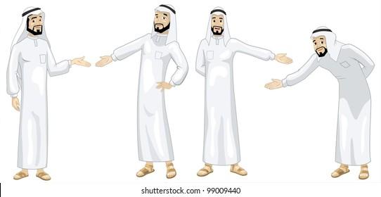 Khaliji Welcoming Men-vector