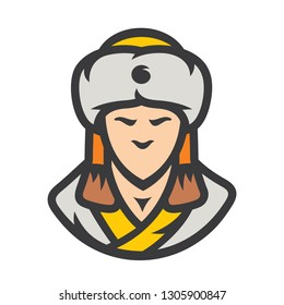 Khan of the Golden Horde. Vector Illustration.