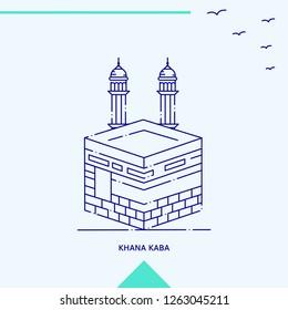 KHANA KABA skyline vector illustration
