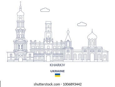 Kharkiv Linear City Skyline, Ukraine