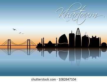 Khartoum skyline - Sudan - vector illustration