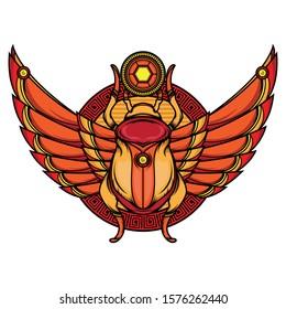 khepri flash tattoo designs, vector EPS 10