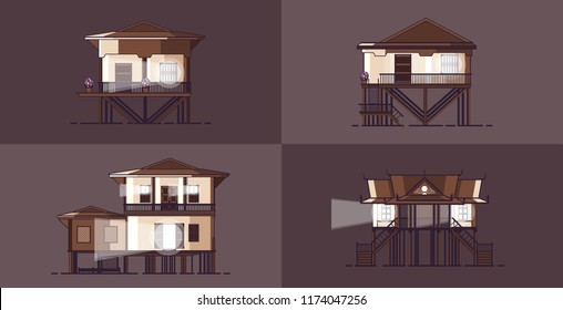 Khmer Stilts House