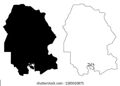 Khuzestan Province (Provinces of Iran, Islamic Republic of Iran, Persia) map vector illustration, scribble sketch Khuzestan map