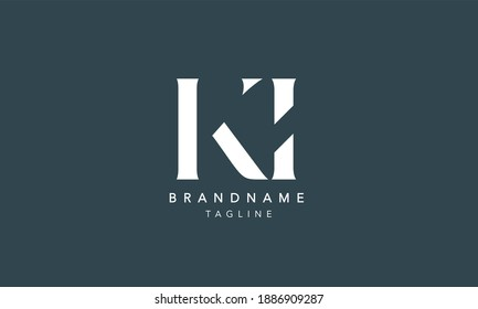KI Alphabet initial Letter Monogram Icon Logo vector illustration