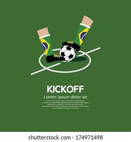 Kick Off Vector Illustration