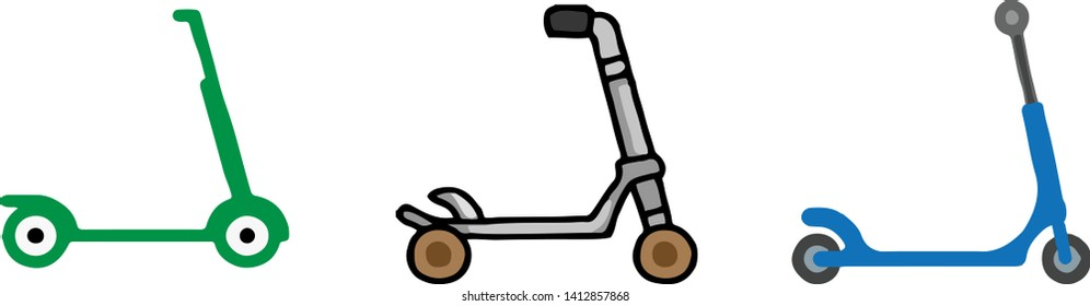 kick scooter icon on white background