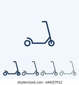 Kick Scooter line icon, Wheel Scooter