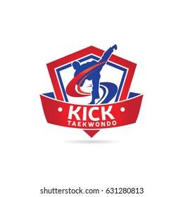 Kick Taekwondo Logo Symbol
