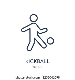kickball icon. kickball linear symbol design from sport collection. Simple outline element vector illustration on white background