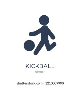 kickball icon. Trendy flat vector kickball icon on white background from sport collection, vector illustration can be use for web and mobile, eps10