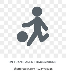 kickball icon. Trendy flat vector kickball icon on transparent background from sport collection.