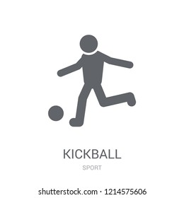 kickball icon. Trendy kickball logo concept on white background from Sport collection. Suitable for use on web apps, mobile apps and print media.