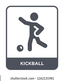 kickball icon vector on white background, kickball trendy filled icons from Sport collection, kickball simple element illustration