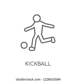 kickball linear icon. Modern outline kickball logo concept on white background from Sport collection. Suitable for use on web apps, mobile apps and print media.