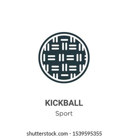 Kickball vector icon on white background. Flat vector kickball icon symbol sign from modern sport collection for mobile concept and web apps design.