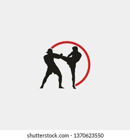 kickboxing logo template