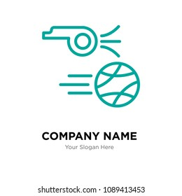 kickoff company logo design template, Business corporate vector icon, kickoff symbol