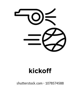 kickoff icon isolated on white background, vector illustration, kickoff logo concept
