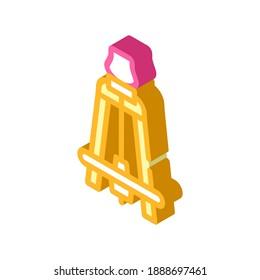 kick-wheel pottery equipment isometric icon vector. kick-wheel pottery equipment sign. isolated symbol illustration