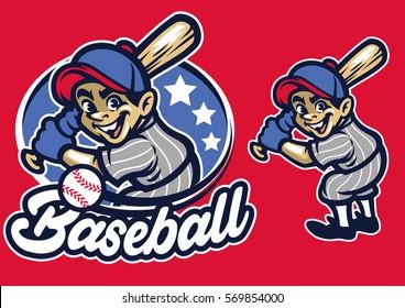 kid as a baseball batter