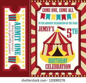 kid birthday invitation card design. vector illustration