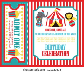 kid birthday invitation card design. vector illustration
